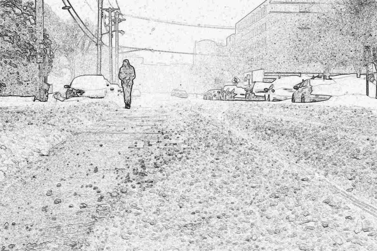 Съновник - град, градушка (или сняг)